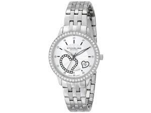 Stuhrling Women's 34mm Silver Steel Bracelet & Case Sapphire Glass Watch 739.01