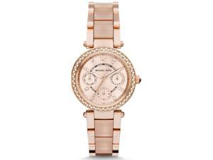Michael Kors Women's 33mm Chronograph Mineral Glass Quartz Date Watch MK6110