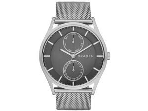 Skagen Men's 40mm Chronograph Silver Steel Bracelet & Case Quartz Watch SKW6172