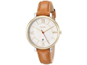 Fossil ES3737 Women's 36mm Brown Leather Band Steel Case Quartz Analog Watch