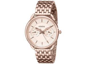 Fossil Women's 35mm Rose Gold Steel Bracelet & Case Mineral Glass Watch es3713