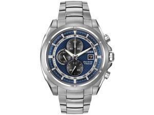 Citizen Men's 43mm Chronograph Silver Steel Bracelet & Case Watch CA0550-87L
