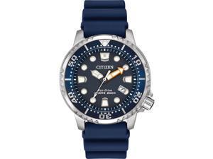 Citizen Men's Blue Polyurethane Stainless Steel Case Solar Watch BN0151-09L