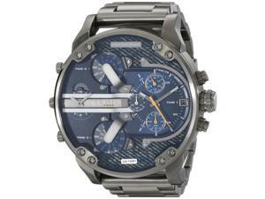 Diesel Men's 57mm Grey Steel Bracelet & Case Mineral Glass Quartz Watch dz7331