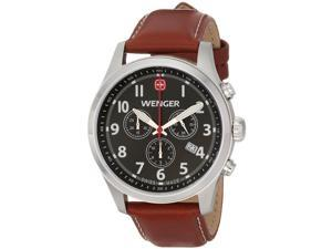 Wenger Men's 43mm Chronograph Brown Calfskin Stainless Steel Case Watch 0543.102