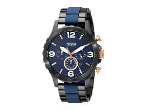 Fossil Men's 50mm Chronograph Multicolor Steel Bracelet Quartz Date Watch jr1494