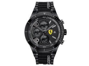 Ferrari Men's 46mm Chronograph Black Plastic Band & Case Quartz Watch 0830262