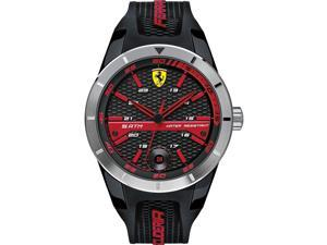 Ferrari Men's 44mm Black Plastic Band & Case Mineral Glass Quartz Watch 0830253