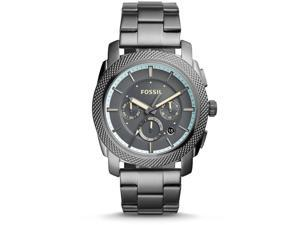 FOSSIL MEN'S MACHINE 45MM GREY STEEL BRACELET & CASE QUARTZ WATCH FS5172