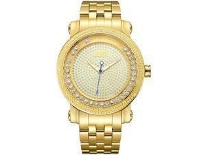 JBW MEN'S HENDRIX DIAMOND 50MM 18K GOLD PLATED BRACELET QUARTZ WATCH J6338B
