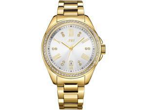 JBW WOMEN'S CAPRI DIAMOND 38MM 18K GOLD PLATED BRACELET QUARTZ WATCH J6340B