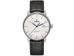 RADO MEN'S COUPOLE CLASSIC 41MM BLACK LEATHER BAND AUTOMATIC WATCH R22876015