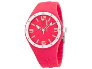 Momo Design Women's 41.7mm Red Silicone Mineral Glass Watch MD1006RD-07RD-RB