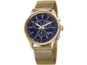 Akribos XXIV Men's 42.5mm Chronograph Gold Steel Bracelet & Case Watch AK625BU