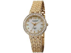 Akribos XXIV Women's 30mm Metal Metal Case Synthetic Sapphire Watch AK757YG