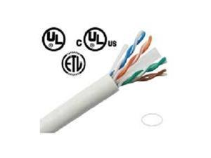 VONNIC CBC61KWU CAT6 ETHERNET NETWORK CABLES 1000' PULL BOX - WHITE