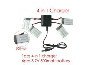 syma x5c parts X5 charger X5A X5C-1 RC Quadcopter Spare 4 in1 battery charger with 4pcs battery 500mah