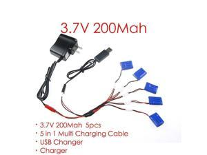 100% Original 3.7V 200mAh Battery/USB JST Cable,Adapter/USB blance charger for X4 X11C X13 RC Quadcopter Helicopter