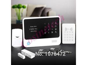 GPRS WiFi  GSM alarm system with IOS Android APP Control RFID Keypad Home Alarm System smart home alarm system with alarm sensor