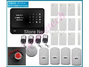 Customized WIFI GSM Alarm system for security smart home office shop bank,burglar alarm system compatible with IP camera alarm