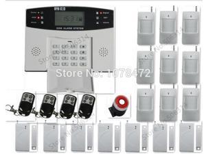 Classic LCD display customized GSM alarm system+door gap sensor+PIR sensor detector+ SMS auto-dial home security alarm system