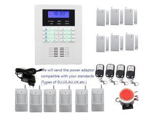 Home Security GSM PSTN alarm system kit voice in EN,FR,Russian,Italian,Czech,Spanish,Portuguese and Polish,burglar alarm system