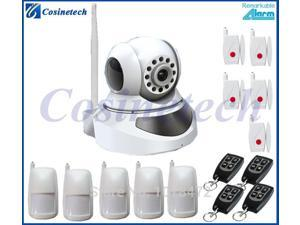 wireless network video WIFI camera alarm,home alarm system with smart IOS and Android ,WIFI  Security IP camera alarm system