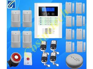 GSM850/900/1800/1900Mhz smart home security GSM alarm system with voice&SMS in optional English,French, Russian,Italian,Chinese