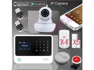 100% original G90B WiFi Alarm GPRS Wifi home security GSM Alarm System+SMS alarm support IP camera+fire alarm smoke senser