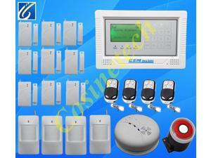 smart  home alarm system Wireless Wired Defense Zone GSM Alarm System LCD Touch Keypad Home Security  alarm panel