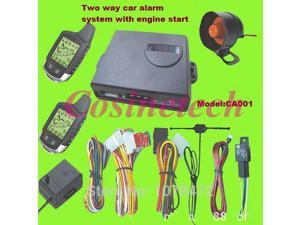 Hot sales Two Way car Alarm System vehicle security LCD remote control alarm system with built-in remote engine start