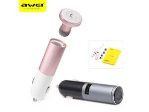 NEW Awei Car Charger USB interface Bluetooth Stereo Headset Answer call For Phone Mini Adapter BT 4.0 Earphone Auto charging