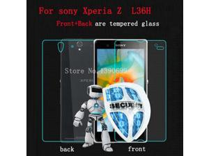 0.26mm For Sony Xperia Z L36h Tempered Glass Screen Protector Front Back(All Glass) For Sony Xperia Z Screen Protector Glass