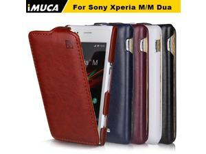 Case for Sony Xperia M iMUCA Luxury Flip Leather Case Cover Pouch for Sony Xperia M C1905 C1904 Dual C2004 C2005 Phone Cases
