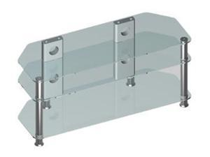 3-Layers TV Stand heavy duty glasses