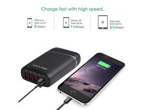 Wavlink  45W  5-Port  USB Rapid Charger USB Wall/Desktop/Travel Smart Charging Station w/ Ultra High-Performance Intelligent Smart IC Technology for iPhone, iPad, Android, Samsung and More