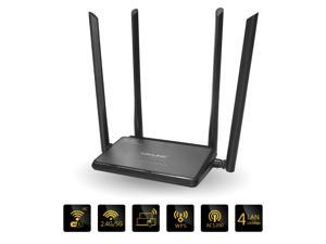 Wavlink High Power Wireless Router AC1200 Dual Band 802.11AC WiFi Range Extender Wireless Repeater 2.4GHz & 5GHz Concurrent Ethernet Network - Share 5 WAN/LAN Ports, 4x5dBi High Gain Antennas WPS