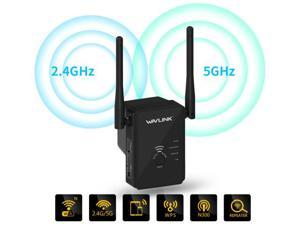 Wavlink Smart Dual Band Wireless Long Range Extender 2.4GHz/5GHz 300Mbps Wi-Fi Signal Booster IEEE802.11n RJ45 Ethernet LAN Port Support Repeater / Access Point / Router Modes - US Plug
