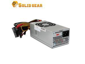 "Solid Gear TFX 300 Watt Power Supply. (SDGR-TFX300) High efficiency Switching Technology, Long Life Bearing 80mm Fan, Dimension: 7""x 3.4""x 2.5"""