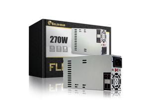 "Solid Gear FLEX / Mini ITX 270 Watt Power Supply (SDGR-FLEX270), High efficiency Switching Technology,  Dimension: 6""x3.2""x1.5"""