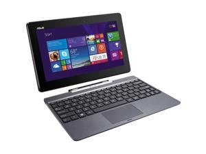 "ASUS T100TAM Detachable 2-in-1 Touch Laptop with Dock / 10.1"" IPS Touchscreen / Intel Z3775 Quad Core / 2GB RAM / 64GB SSD / Bluetooth / WiFi / Webcam / Office 365 / Windows 8.1 / Gray Metal"