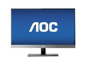 "AOC - 27"" Widescreen Flat-Panel IPS LED HD Monitor - Piano Black/Silver"