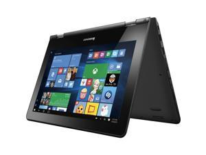 2016 Newest Lenovo Flex 3 2-in-1 11.6 inch HD Touch-Screen Convertible Laptop ( Intel Celeron processor N3050, 4GB, 500GB HDD, No DVD, Bluetooth, Webcam, WiFi, HDMI, Windows 10 ) - Black