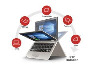 2016 Newest Toshiba Satellite Radius 2-in-1 11.6 inch HD Touch-Screen Convertible Laptop ( Intel Quad-Core Pentium N3700, 4GB, 500GB, No DVD, Bluetooth, Webcam, WiFi, HDMI, Windows 10 ) - Satin Gold