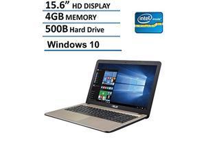 2016 Newest Asus 15.6-Inch Premium Laptop, Intel Dual Core N3050 Processor up to 2.16GHz, 4GB RAM, 500GB DD, HD LED Backlit Display, DVD/CD Burner, HDMI, VGA, Wifi, Webcam, Windows 10-Chocolate Black