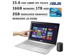 2016 Newest ASUS Flagship Premium High Performance 15.6 inch FHD 1080P Touchscreen Gaming Laptop, Intel Quad Core i7 Processor, 16GB Memory, 1TB HDD, Dedicated 2GB GTX 950M Graphics, DVD, Windows 10