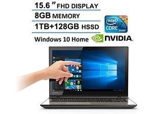 2016 Newest Toshiba Satellite 15.6 Full HD Touchscreen Laptop, Intel Core i7-6700HQ, 12GB RAM, NVIDIA GeForce GTX 950M, 1TB HDD +128GB SSD, DVD Super Multi, Webcam, HDMI, Bluetooth, Windows 10