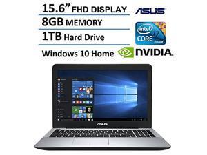 2016 Newest ASUS 15.6-inch Premium FHD(1920 x 1080) Gaming Laptop, Latest 6th Intel Core i7 6500U, up to 3.0GHz, 8GB RAM, 1TB 7200rpm HDD, NVIDIA GeForce 940M 2GB, DVD, Bluetooth, HDMI, Windows 10