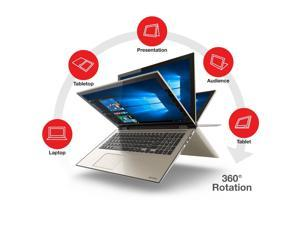 "2016 Newest Toshiba Satellite Fusion L55W 15.6"" Full HD 2-in-1 Touchscreen Convertible Laptop, Intel Core i7-6500U Processor, 8GB RAM, 256GB SSD, Backlit Keyboard, Webcam, WIFI, Windows 10"