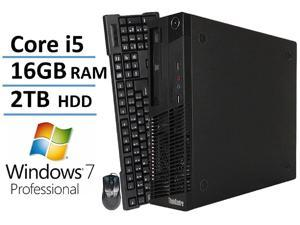 Lenovo ThinkCentre Premium High Performance Business Desktop Computer, Intel Core i5 Quad-Core Processor 3.1GHz, 16GB RAM, 2TB HDD, Windows 7 Professional